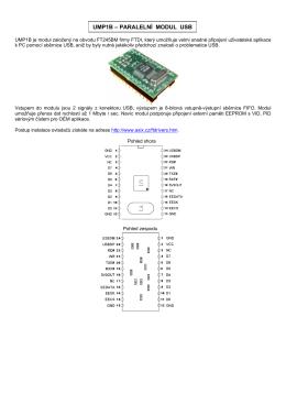 UMP1B – PARALELNÍ MODUL USB
