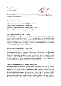 Projekt TransStar Europa Newsletter 04/2015 Projekt TransStar