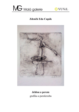 Zdeněk Eda Cupák Jehlou a perem grafika a perokresba