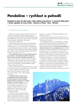 Pendolino – rychlost a pohodlí