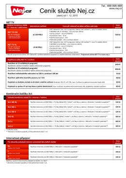 Kompletní ceník v PDF