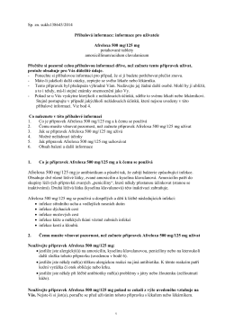 informace pro uživatele Afreloxa 500 mg/125 mg potahované tablety