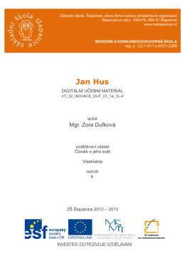 Jan Hus - ZŠ Šlapanice
