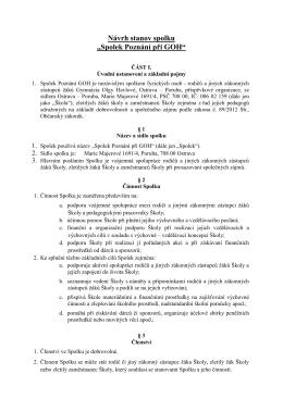 Návrh stanov spolku - Gymnázium Olgy Havlové