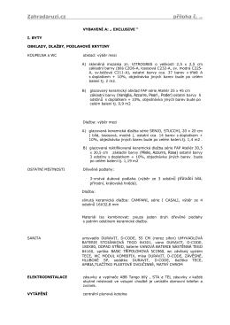 Vybavení EXCLUSIVE (v pdf. ke stažení)