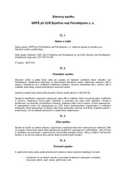 Stanovy SRPŠ - Základní umělecká škola Bystřice nad Pernštejnem