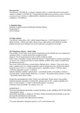 Provozní řád v PDF