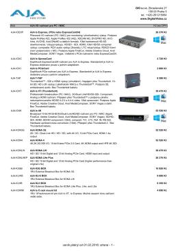 ceník platný od 01.05.2015, strana - 1 -