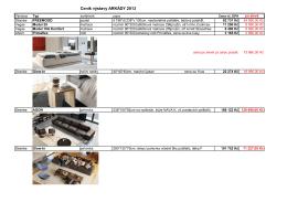 Ceník výstavy Arkády - Jespen designový nábytek
