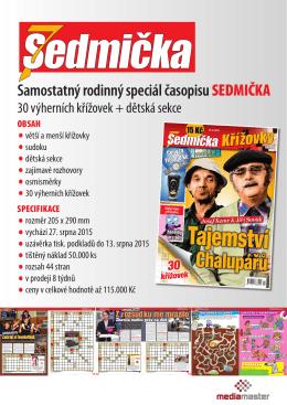 Samostatný rodinný speciál časopisu SEDMIČKA
