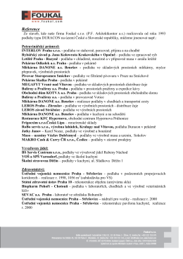 otevřít soubor PDF - Foukal, s.r.o Praha