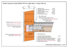 Uložení stropních vložek MIAKO PTH na vnější stěnu, tl. stropu 290