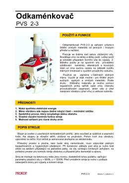 Odkaménkovač PVS 2-3