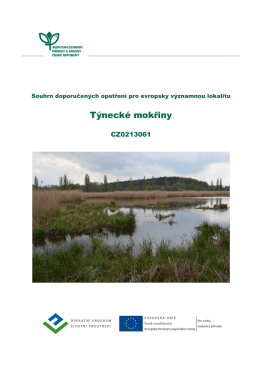 Týnecké mokřiny - Regionální pracoviště Střední Čechy