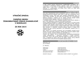 vyrocni zprava fs cce v nosislavi za rok 2014 net