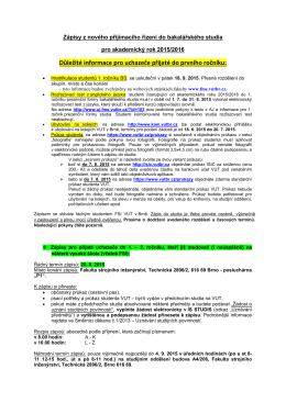 zápisy pro přijaté uchazeče do 1.–3. ročníku BS, kteří již studovali