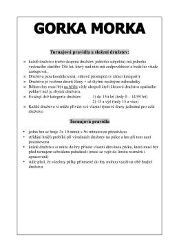 Turnajová pravidla Gorka Morky 2011