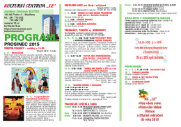 PROGRAM - kulturní centrum 12