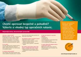 Používáte správné operační rukavice?