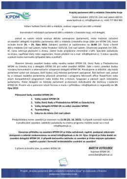 Přihláška a pozvánka na zasedání delegátů KPDM ÚK 23.