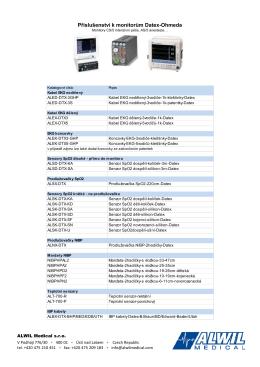 Příslušenství k monitorům Datex-Ohmeda