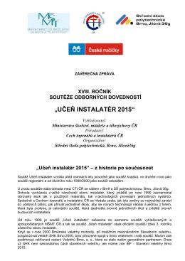 Závěrečná zpráva - Cech topenářů a instalatérů České republiky