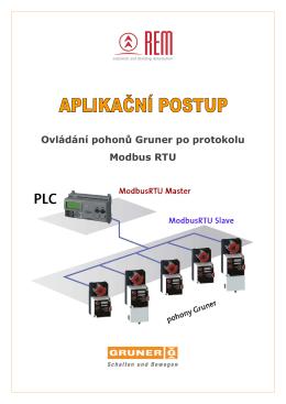 Ovládání pohonů Gruner po protokolu Modbus - REM