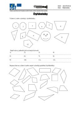 Čtyřúhelníky