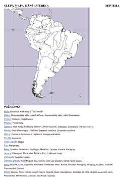 požadavky na slepou mapu jižní ameriky