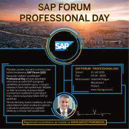 SAP FORUM PROFESSIONAL DAY