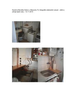 Kavárna Beruška Ostrov u Macochy 72, fotografie odstranění závad