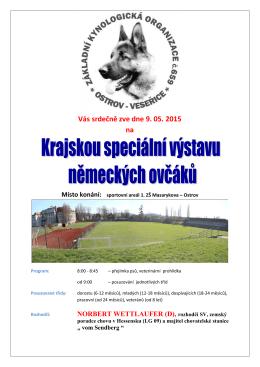 OSTROV n/Ohří - 9.5.2015 - Propozice a přihláška