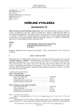 rozhodnutí - stavební povolení: VODOVOD