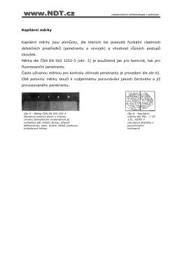 Kapilární měrky Kapilární měrky jsou pomůcky, dle kterých lze