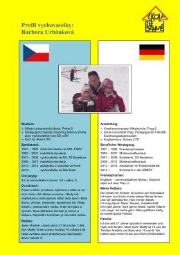 Profil vychovatelky: Barbora Urbánková