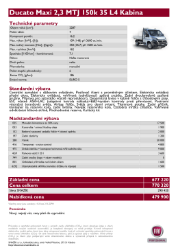 Ducato Maxi 2,3 MTJ 150k 35 L4 Kabina