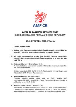- Asociace malého fotbalu ČR