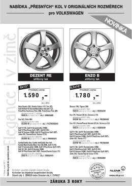 Produktový list VW ke stažení zde