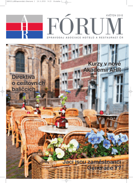 nejnovější zpravodaj - Asociace hotelů a restaurací České republiky