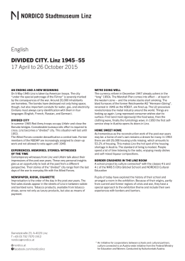 English DIVIDED CITY. Linz 1945−55 17 April to 26