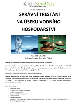 Pozvánka v PDF - Užitečné semináře