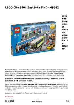 LEGO City 8404 Zastávka MHD - 69662 - Šetříme Vaší