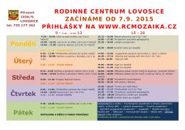 rozvrh-2015-2016 - Rodinné a mateřské centrum Mozaika