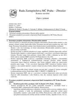 Rada Zastupitelstva MČ Praha – Zbraslav