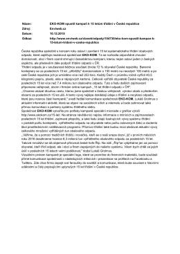 EKO‑KOM spustil kampaň k 15 letům třídění v České republice