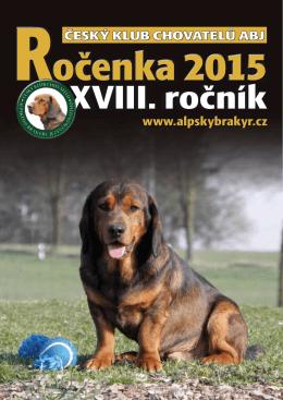 Rocenka 2015 - Český klub chovatelů alpského brakýře