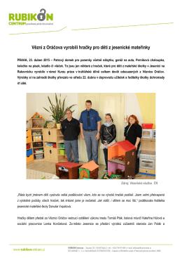 Vězni z Oráčova vyrobili hračky pro děti z