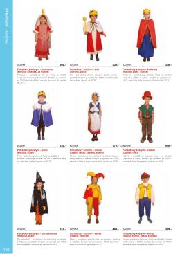 kostýmy a textilní čepičky
