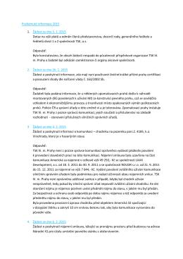 Poskytnuté informace 2015 1. Žádost ze dne 5. 1. 2015 Dotaz na