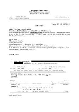 Exekutorský úřad Praha 7 JUDr. Filip Exner, soudní exekutor